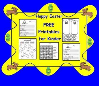 Free Easter Printables for Kinder