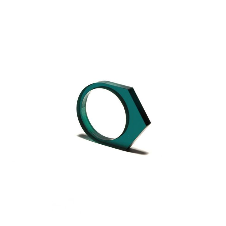 Acrylate geometric ring by OFORM from Netherlands. Best stacked. Ships worldwide from the Netherlands.