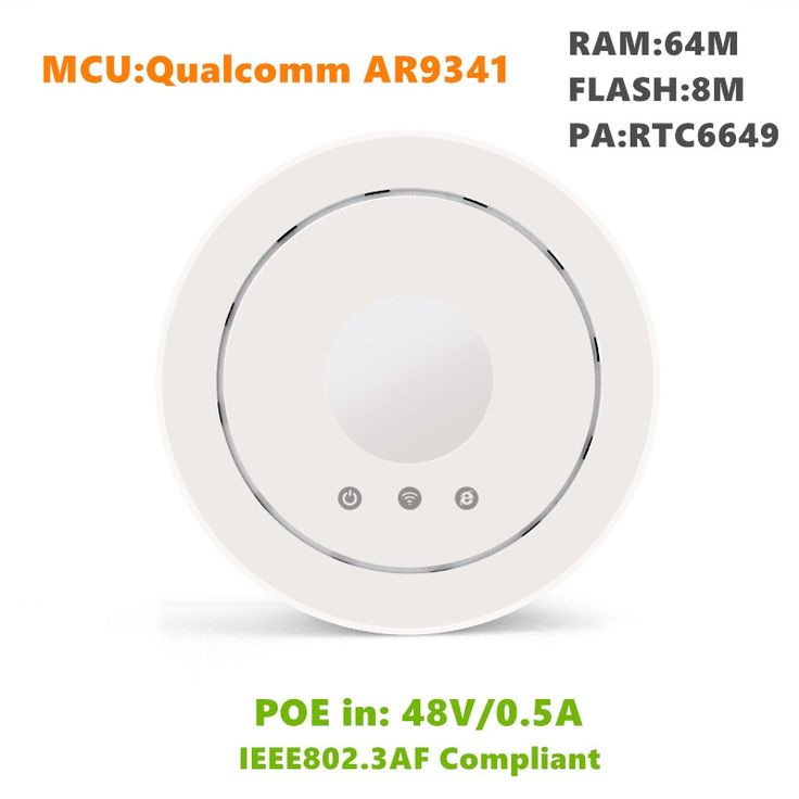 57.62$  Buy here - http://aiqxy.worlditems.win/all/product.php?id=32686209830 - 48V PoE 300Mbps ceiling wireless wifi router 500mw high gain AR9341 ceiling AP/bridge/router/repeater wireless ap access point