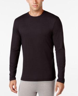 Alfani Men's Long-Sleeve Undershirt, Only at Macy's - Black S
