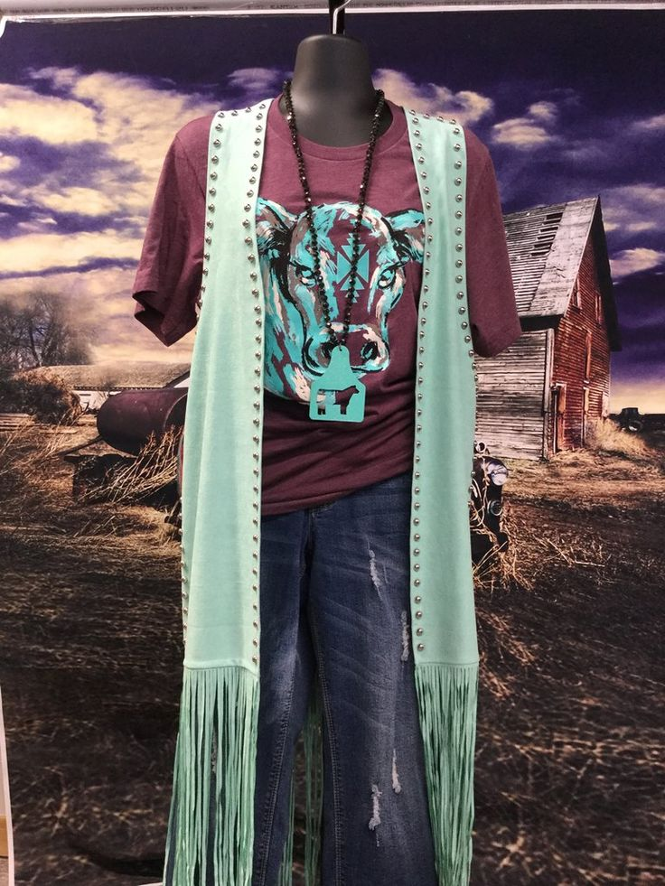 Crazy Train Mint Fringe Duster Vest – Classy Cowgirl Co.