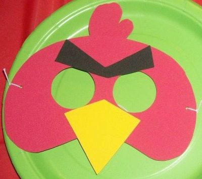 Angry Birds party masks by HippityHatsandMore on Etsy, $10.00 for 8 masks!