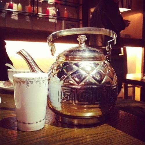 Indian salty milk tea... interesting. photo by patrick ng