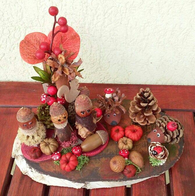 Termésekből őszi dekoráció