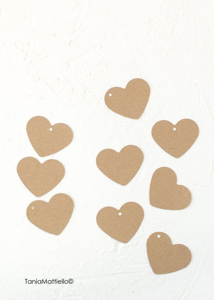 24 Etichette Cuore Grande in Carta Kraft-Segnaposto-Targhette-Chiudipacco-Scrapbooking-Carta Riciclata-Matrimonio-Vintage-Tag-Bomboniera di BolleDiCarta su Etsy