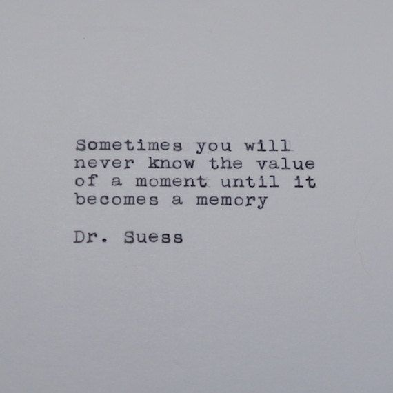 Dr. Suess Quote Typed on Typewriter by #LettersWithImpact: