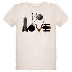 No Love Weapons Organic Kids T-Shirt> No Love Weapons> http://www.cafepress.com/helluvashirt