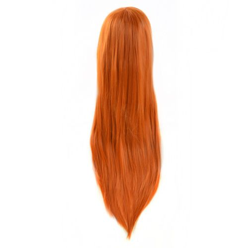 kim-possible-Cosplay-wig-Party-Hair-long-straight-orange-full-Wigs-a-wig-cap