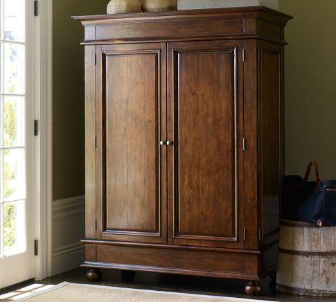 Belvedere Armoire  Pottery Barn  Home Reno  Bldg Ideas  Furniture Tv armoire Armoire