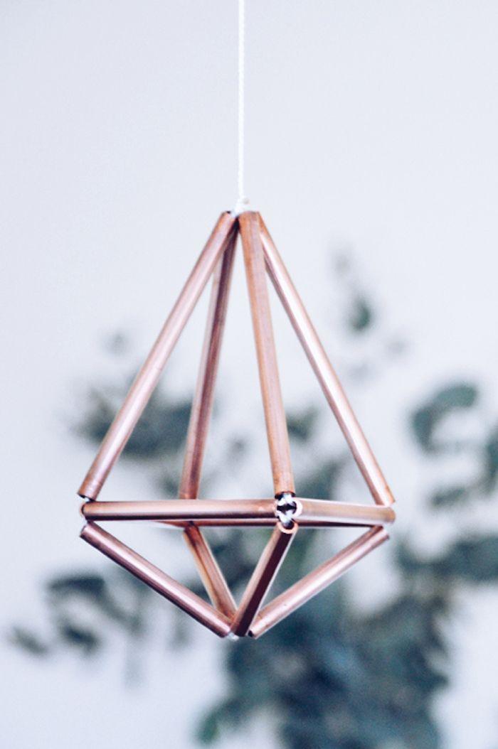 Diamond copper mobile by Twin