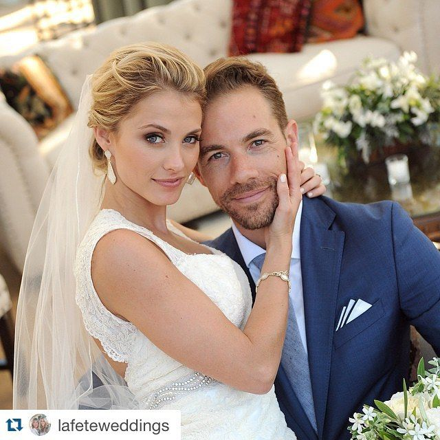 So in love with my husband  @lafeteweddings ・・・ We are beyond thrilled to welcome this gorgeous girl into our family! Your love for each other has touched our hearts and it was so special to see your dearest friends and family gathered to support the two of you at the wedding yesterday! We love you both, Congratulations @tombropez & @jenna_reeves!!! {photo by: @jkoephoto} #tandjsbigday2015 @kendrascott