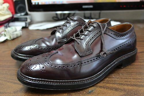 Alden's shell cordovan shoes