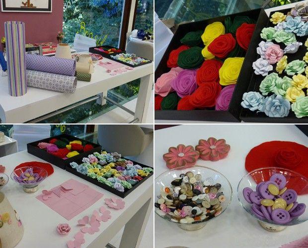Flores de feltro e tubos de PVC podem ser usados na decoração do quarto  (Foto: Mais Você/TV Globo)