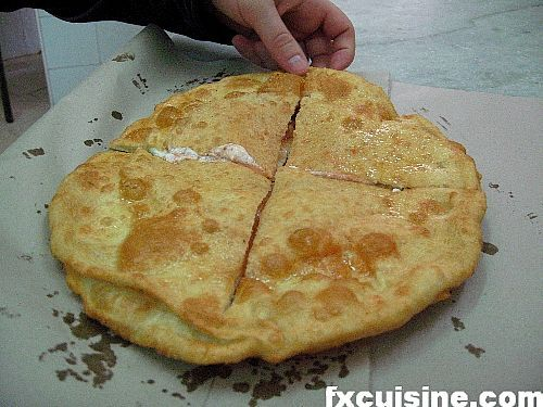 Pizza Fritta - traditional Neapolitan deep-fried pizza