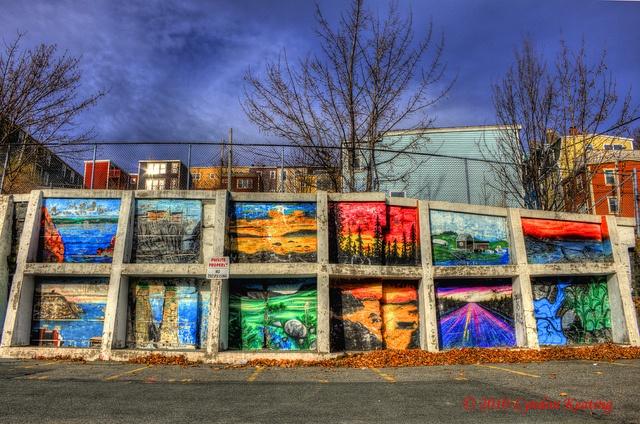 Beautiful mural Duckworth Street , St. John's , Newfoundland, via Flickr.