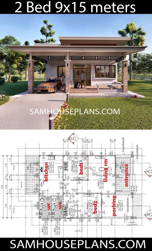 House Plans Idea 9x15 With 2 Bedrooms Sam House Plans Bedroom House Plans House Plans 2 Bedroom House Plans