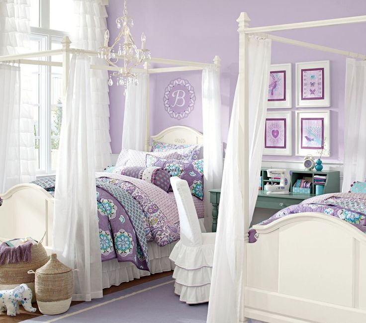 Bedroom Teenage Small Girls Room Purple Large Size: Pottery Barn Kids Australia