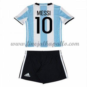 Argentiina Lasten Maajoukkue Jalkapallo Pelipaidat 2016 Lionel Messi 10 Kotipaita Pitkähihainen