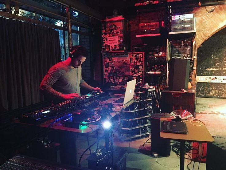 @arthurrobert_reduktion soundcheck at the Rhiz in Vienna. . . . . . #soundcheck #arthurrobert #techno #producer #music #analogrytm #teatime #dancemusic #modular #soundcard #bass #music #musician #vienna #austria #rhizvienna #reduktion #analogheaven #cables #liveperformance #livetechno