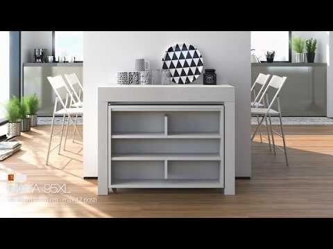 MAYA, il vero tavolo allungabile polivalente. Il tavolo consolle ...