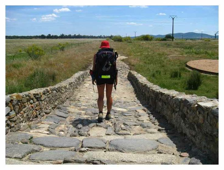 Old roman road (VdlP) between Sevilla and Santiago de Compostella, Spain