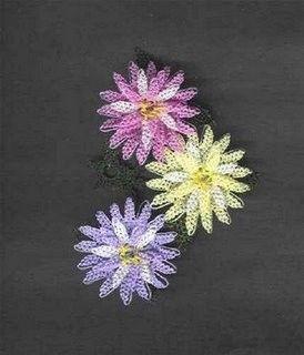 oya flowers  from Turkey   engarenk çıtı pıtı iğne oyası örneği @Afshan Sayyed Shahid