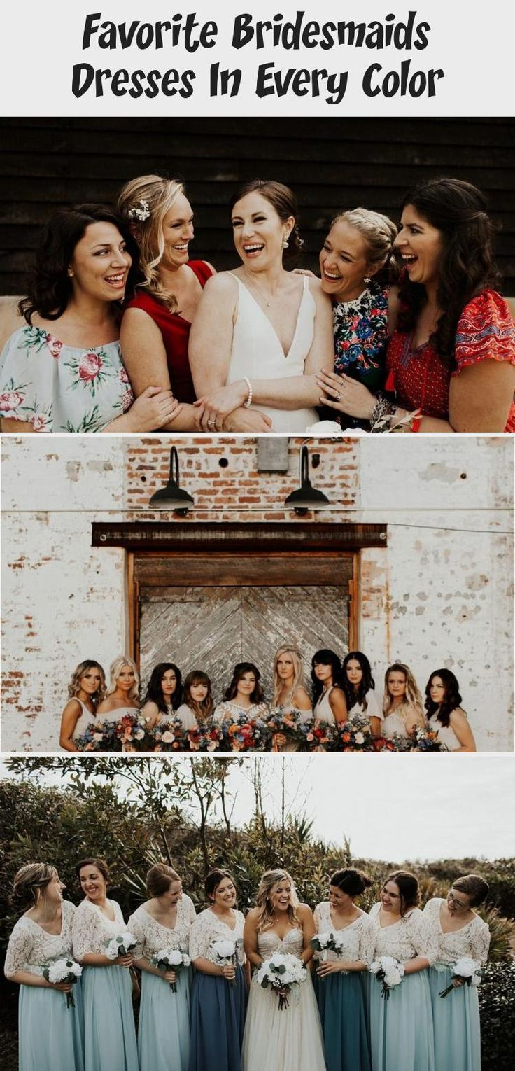 Bridal Party || Bridesmaids || Spring Wedding #BridesmaidDressesBoho #BridesmaidDressesCoral #SatinBridesmaidDresses #BridesmaidDressesWithSleeves #BlushBridesmaidDresses