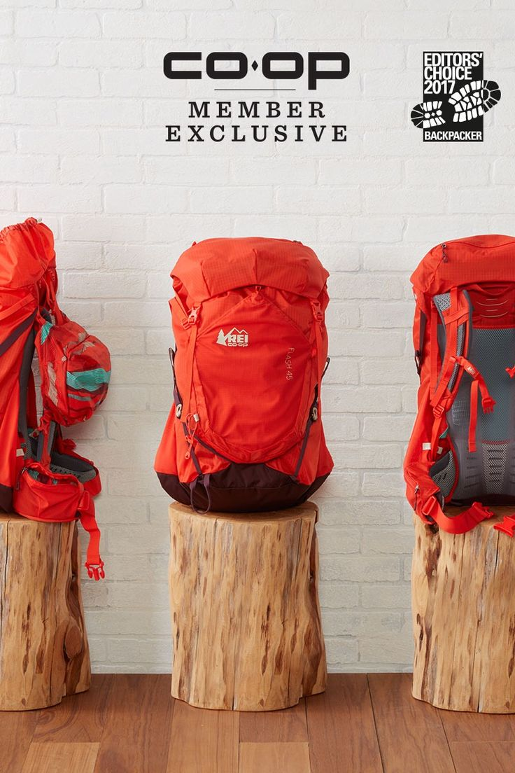 Women's REI Co-op Flash 45 Pack Go with the best—the REI Co-op Flash 45 Pack is a 2017 Backpacker magazine Editors' Choice Award winner! It's also a Co-op member exclusive. Built for women and sized for an overnight escape, it gives you 45 liters of freedom. The pack has load-stabilizing tech, a breathable back panel and attachment points for all your gear. #ForceOfNature