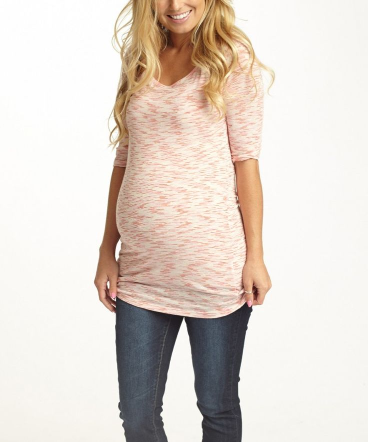 Pink Blush Maternity Top from Zulily