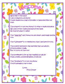 Welcome Letters Teacher Letters And On
