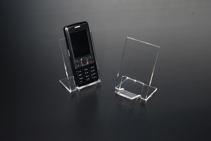 This mobile phone display stands looks more modern and stylish than our other phone stands