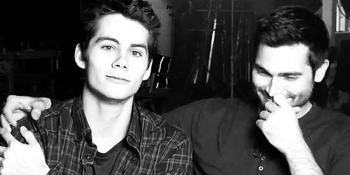 GIF of two cuties!!! tyler hoechlin and dylan o'brien