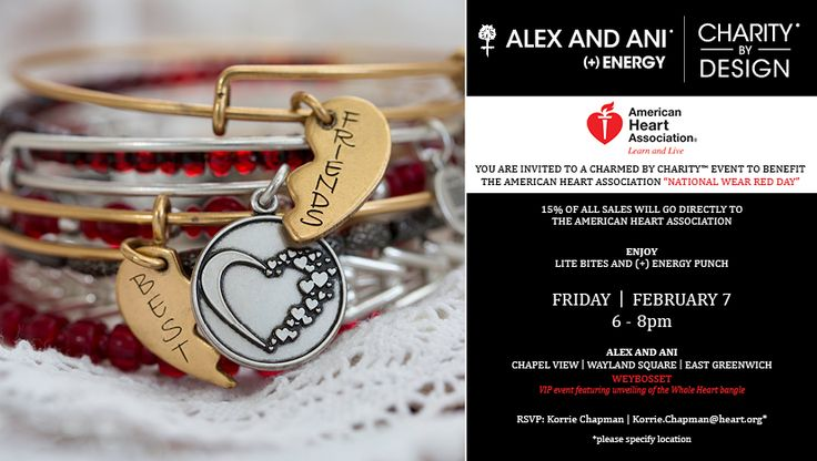 Charmed by Charity events at Alex and Ani locations across Rhode Island to celebrate National Go Red Day - February 7
