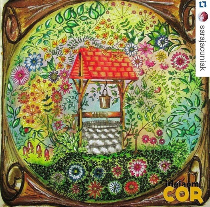 Well Secret Garden Poco Jardim Secreto Johanna Basford Coloring PagesColoring BooksColouringJohanna GardenWishing