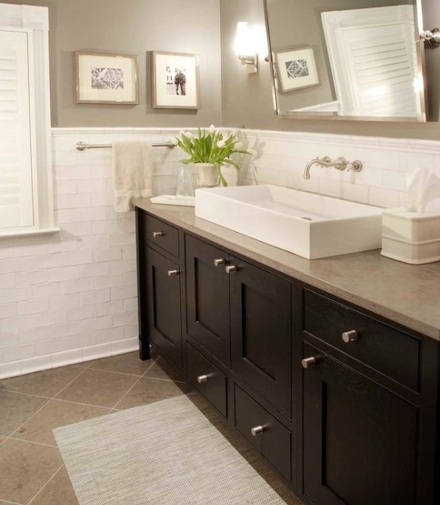 Tiled Bathroom Half Wall 118 best remodel images on pinterest | room, home and bathroom ideas