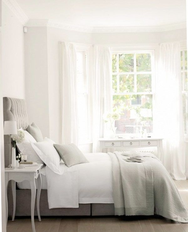 romantic bedroom in grey
