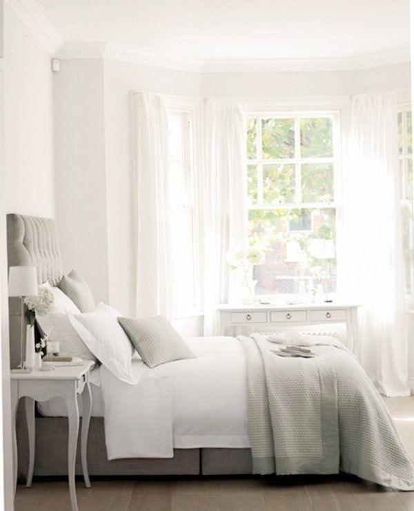 romantic bedroom in grey