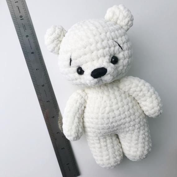 PDF Pattern Crochet Toy Baby Polar Bear Amigurumi