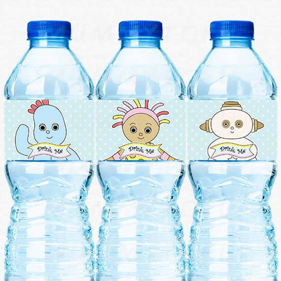 In the Night Garden Party Water Bottle Labels - Iggle Piggle, Upsy Daisy, Makka Pakka, Tombliboos - DIY Party Printable Instant Download by mummytofu