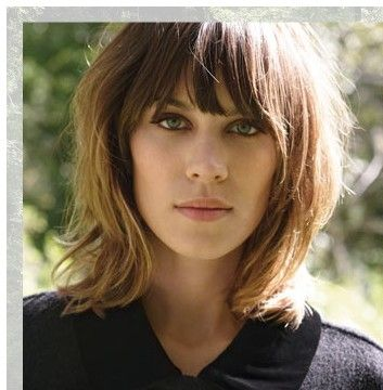 medium lengths haircuts shaggy bob haircut with bangs hairstyle 2013 4156