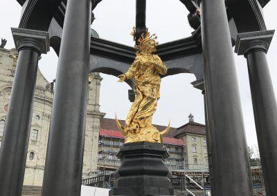 """Via Jacobi : Le Chemin de St-Jacques de Compostelle en Suisse. """"La Vierge Noire à Einsiedeln"""""""