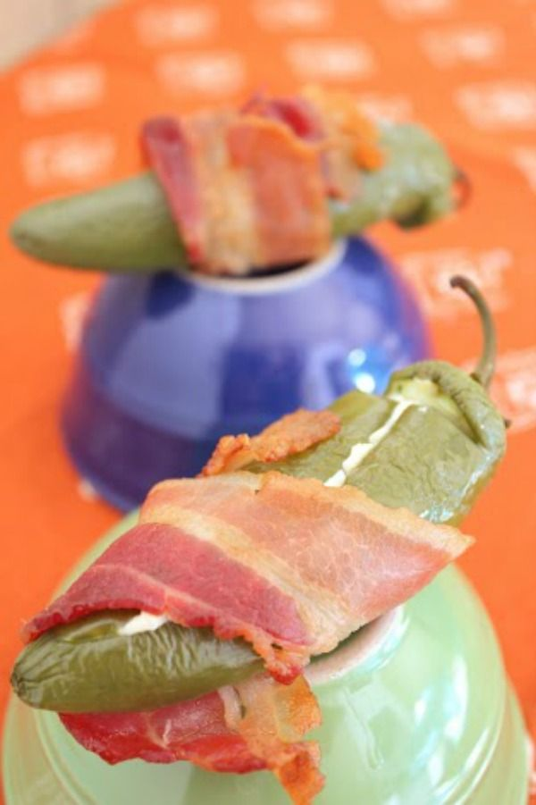 Lil Smokie Stuffed Jalapenos with Bacon - Blog By Donna