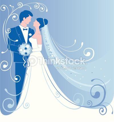 Vector Art : Bride and Groom.