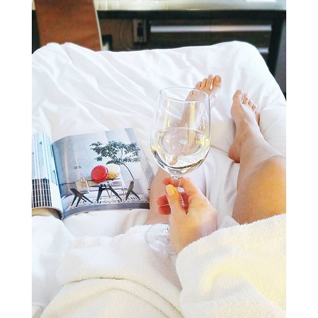 Spa-Moment w/ wine, macarons and design. http://www.langvik.fi/en/spa-and-pool-area  Photo from lauramakinen