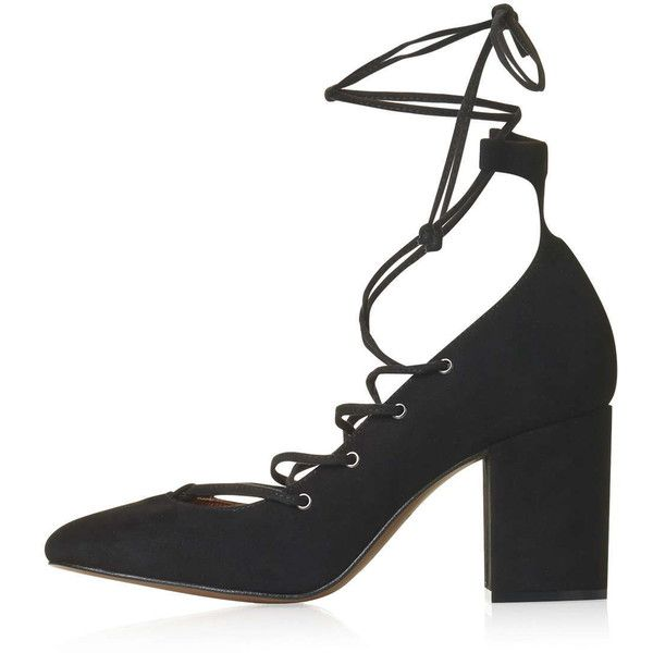 TOPSHOP GOLD Round Toe Ghillie Shoes (440 AED) ❤ liked on Polyvore featuring shoes, black, topshop, black shoes, laced shoes, gold shoes and black lace up shoes
