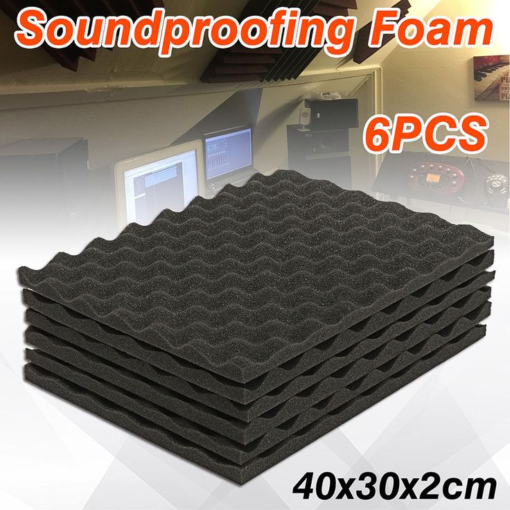 6-24x Soundproofing Foam Acoustic Sound-Absorbing Noise Sponge Foams KTV Studio