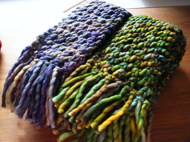 Malabrigo Knitting Patterns : Super-Fast, Ultra-Cozy Scarf by Jen Reilly. malabrigo RAsta in Arequita or Ll...