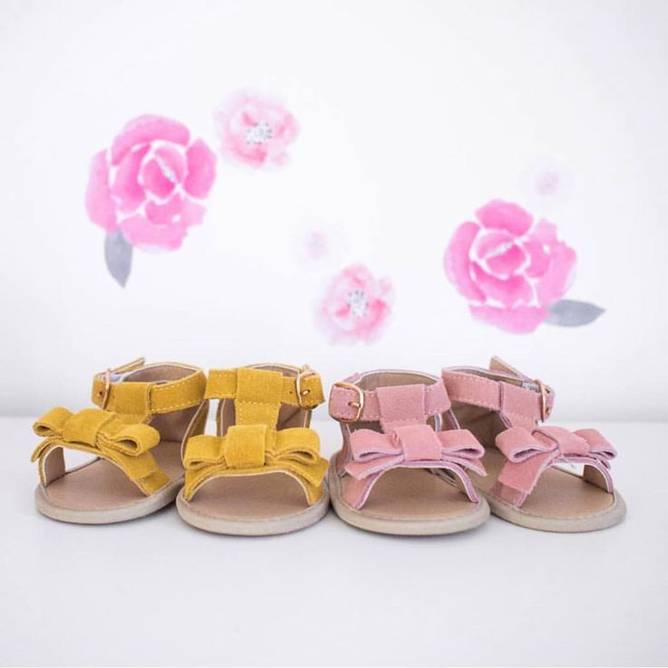 Maggie sandals in mustard and blush at Sadie Baby