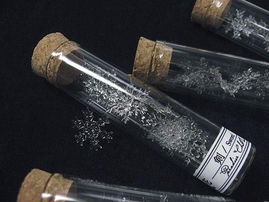雪の結晶の標本/レジン製