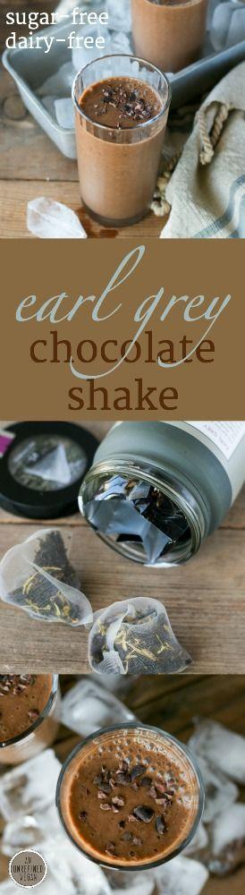 Sugar-free, dairy-free Earl Grey Chocolate Shake by An Unrefined Vegan.